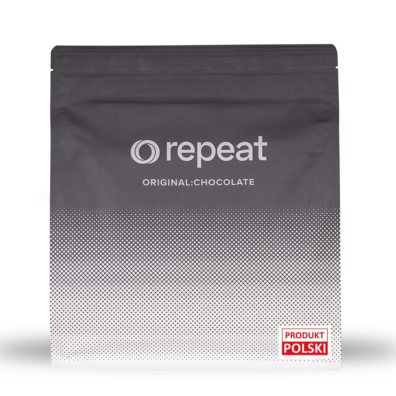 Repeat czekoladowy lekki wegański zamiennik posiłku